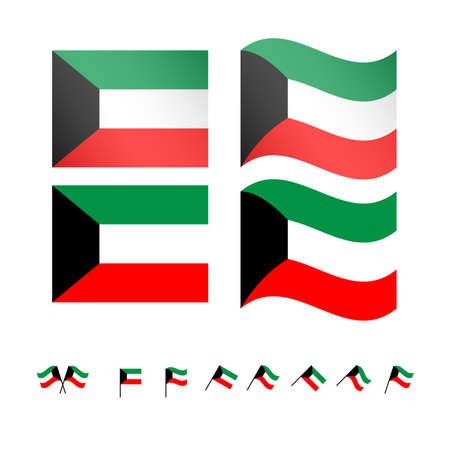 Kuwait Flaggen EPS10 Standard-Bild - 35254565