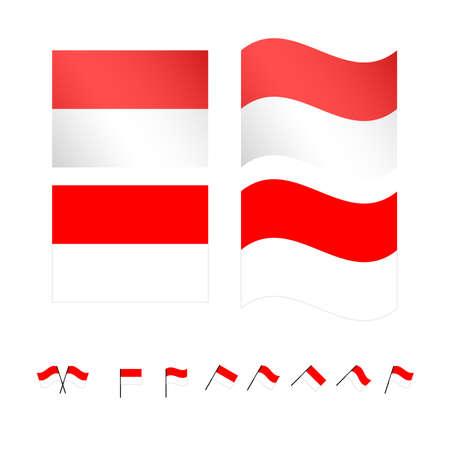 compatriot: Monaco Flags EPS 10