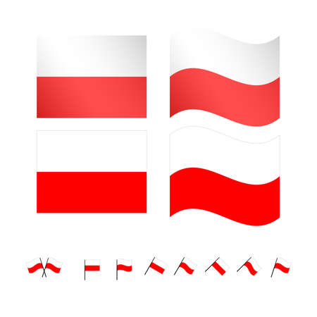 wroclaw: Poland Flags EPS 10