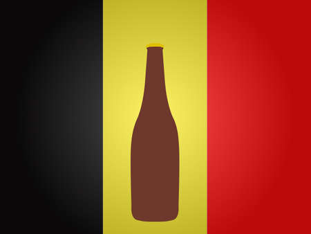 hangover: Belgian Flag with a Bottle of Beer EPS10