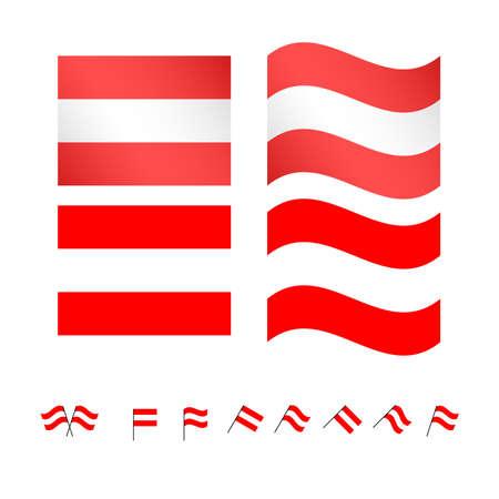 Sterreich Flaggen EPS 10 Standard-Bild - 35373497