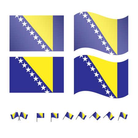 compatriot: Bosnia and Herzegovina Flags EPS 10