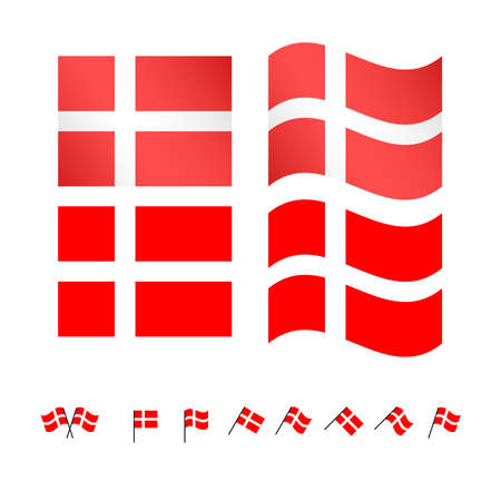 danish flag: Denmark Flags EPS 10