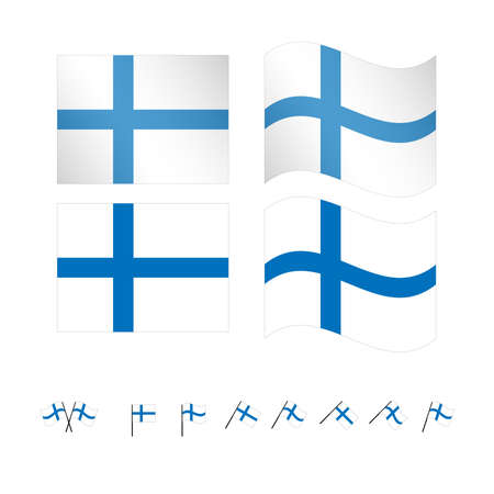 finland: Finland Flags EPS 10