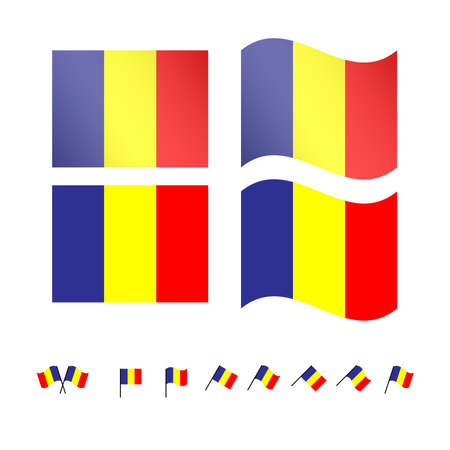 compatriot: Romania Flags EPS 10