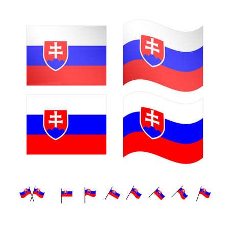 compatriot: Slovakia Flags EPS 10 Illustration