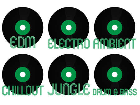 musica electronica: Electronic Music G�neros Vinilo 8 Vectores