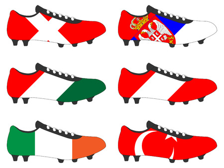football cleats: Football Cleats with National Flags of Europe 3