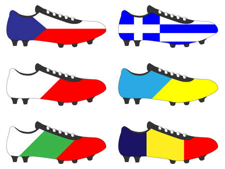 football cleats: Football Cleats with National Flags of Europe 4
