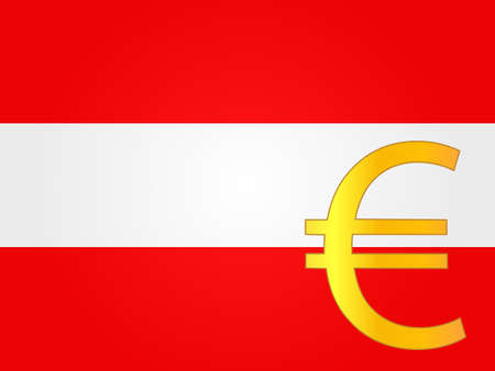 deregulation: Euro Currency Sign over the Austrian Flag EPS 10