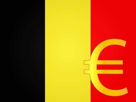 deregulation: Euro Currency Sign over the Belgian Flag EPS 10