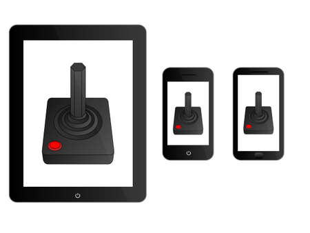 mobile devices: Black Mobile Devices with Joystick