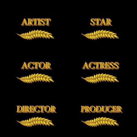 famous actress: Film Stars Laurels 3D 4 Illustration