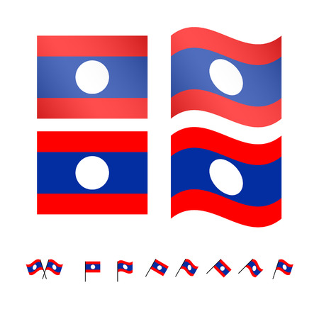 compatriot: Laos Flags EPS 10 Illustration