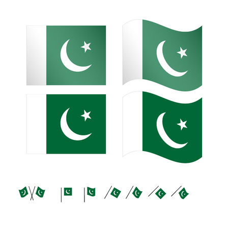 islamabad: Pakistan Flags EPS 10