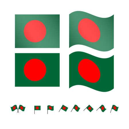 compatriot: Bangladesh Flags EPS 10
