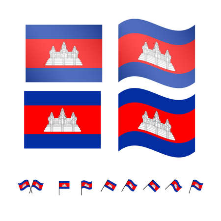 laos: Laos Flags EPS 10 Illustration