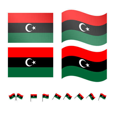 berber: Libya Flags EPS 10