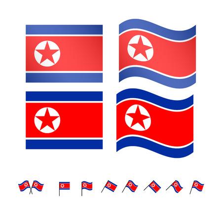 compatriot: North Korea Flags EPS 10