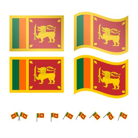 ceylon: Sri Lanka Flags EPS 10