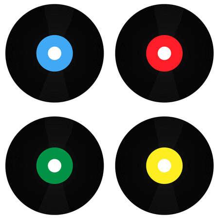 Vinyls in Different Colours Vector