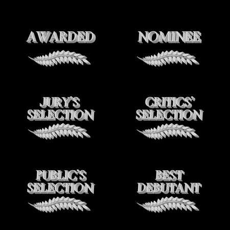 Film Awards and Nominations 3D 6 Vector