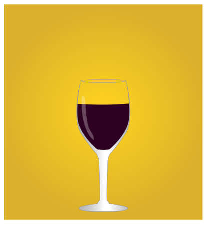 viticulture: Minimalist Drinks List with Red Wine Golden Background