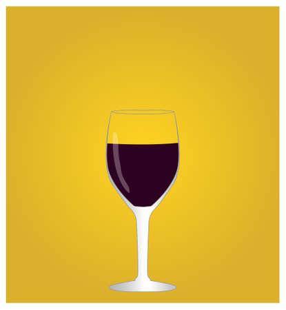 dinner date: Minimalist Drinks List with Red Wine Golden Background