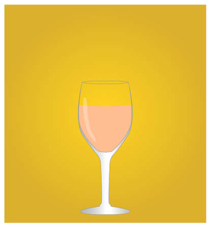 hangover: Minimalist Drinks List with Rose Wine Golden Background