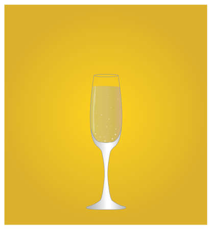 date night: Minimalist Drinks List with Champagne Golden Background Illustration