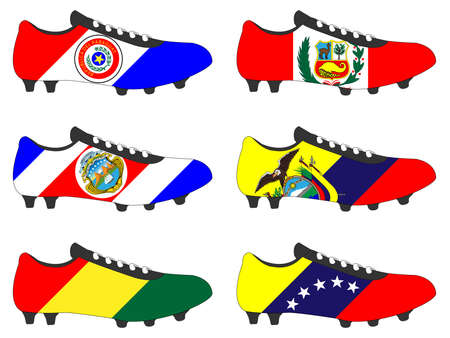football cleats: Football Cleats with National Flags of America 2