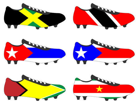 football cleats: Football Cleats with National Flags of the Americas 4