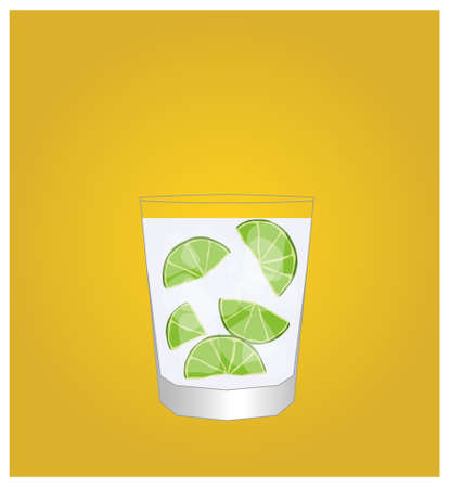 hangover: Minimalist Drinks List with Caipirinha Golden Background