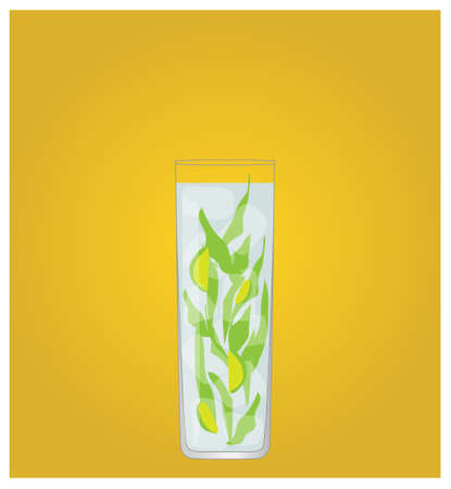Minimalist Drinks List with Mojito Golden Background