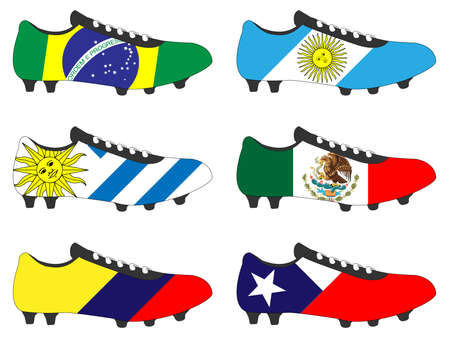 cleats: Football Cleats with National Flags of America 1