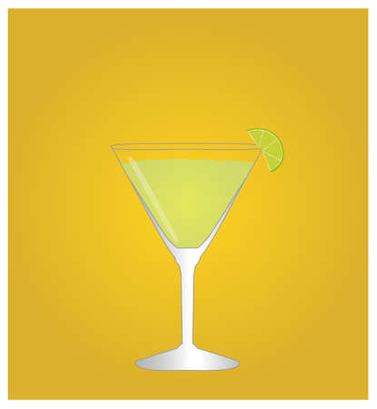 daiquiri: Minimalist Drinks List with Daiquiri Golden Background