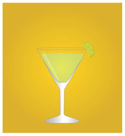 daiquiri: Minimalist Drinks List with Daiquiri Golden Background
