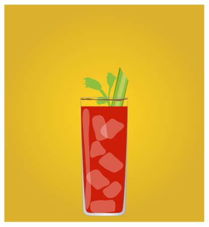 dinner date: Minimalist Drinks List with Bloody Mary Golden Background EPS10