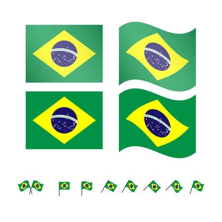 compatriot: Brazil Flags 2 EPS10