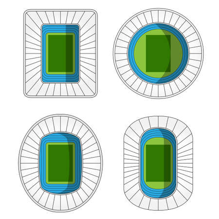 outdoor seating: Stadiums Icons 2 Illustration