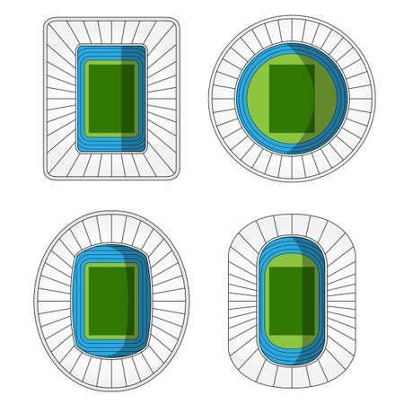 football stadium: Stadiums Icons 2 Illustration