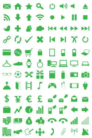 media gadget: 96 Icons Set Green