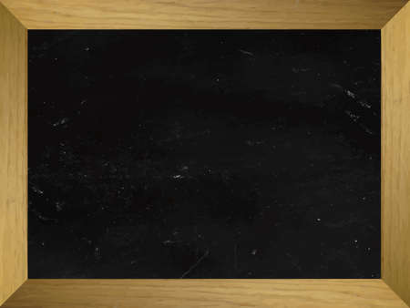 horizontal: Empty Horizontal Chalkboard Illustration