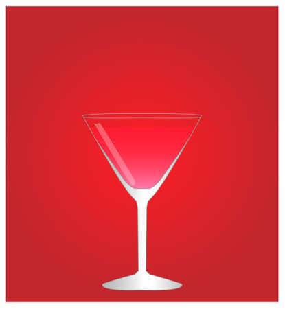 Minimalist Drinks List with Cosmopolitan Red Background