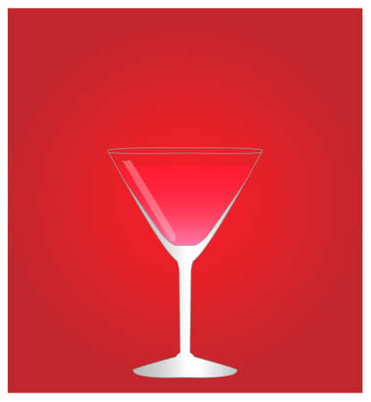 date night: Minimalist Drinks List with Cosmopolitan Red Background