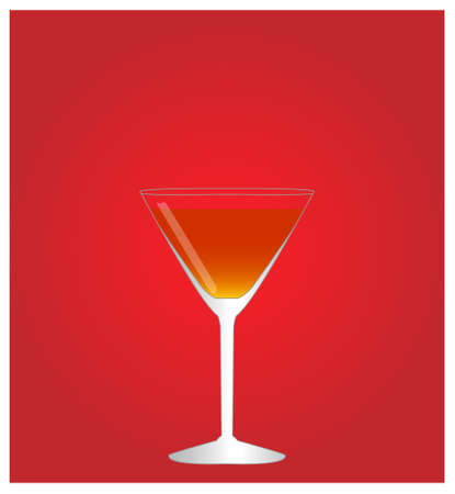 the hangover: Minimalist Drinks List with Manhattan Red Background