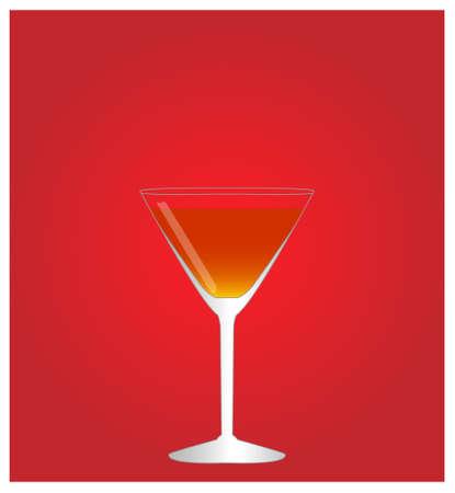 bourbon whisky: Minimalist Drinks List with Manhattan Red Background