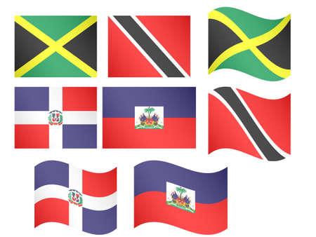 port of spain: Caribbean Flags
