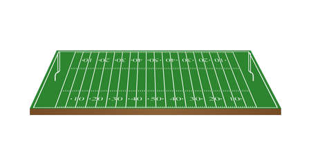 scrimmage: American Football Field 3D with Goalposts