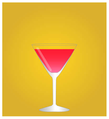sec: Minimalist Drinks List with Cosmopolitan Golden Background  Illustration